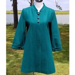 Tulle emerald green swing coat